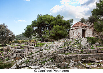 Chapel at the Sanctuary of Artemis at Vravrona in Greece