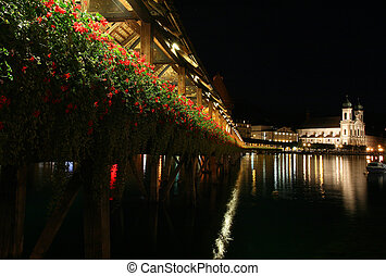 Chapel bridge in Lucerne.