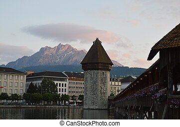 Chapel bridge Luzern Switzerland