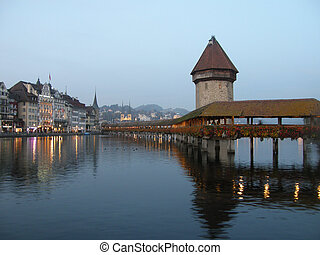Chapel Bridge of Luzern in Switzerland
