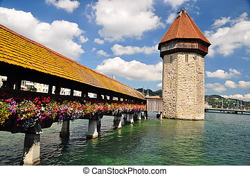 Chapel Bridge tower, Luzern