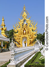 Chapel gold in the White Palace. Thailand