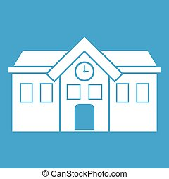 Chapel icon white isolated on blue background vector...