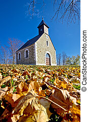 Chapel in autumn on Medvednica mountain