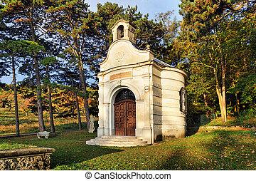 Chapel in cemetery - Slovakia village Smolenice