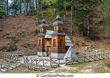 Chapel in Slovenia - The wooden Russian Chapel, built by war...