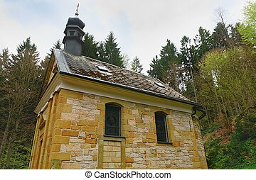 Chapel in the forest. Christian chapel