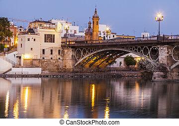 Chapel of Carmen and Isabel II Bridge in Seville