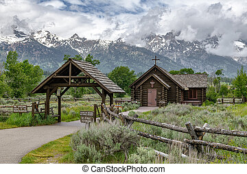 Chapel of the Transfiguration in the Grand Teton National Park, Wyoming