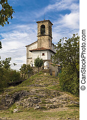 Chapel on the island of Monte Isola