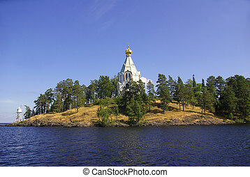 Chapel on the island of Valaam, Karelia, Russia