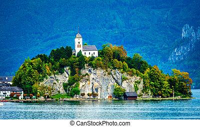 Chapel on the mountain in Austria