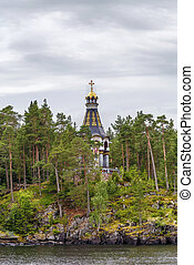 Chapel on the shore, Valaam, Russia - Chapel on the shore of...