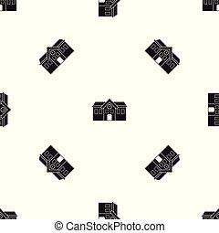 Chapel pattern seamless black - Chapel pattern repeat...