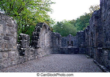 Chapel Ruins at Dunstaffnage Castle in Scotland