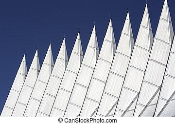 Chapel Spires against blue sky