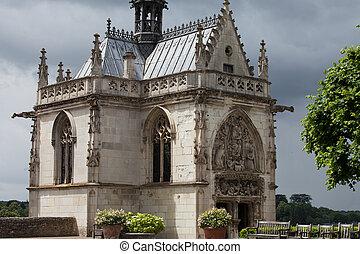 Chapel St. Hubert where Leonardo Da Vinci is buried in Amboise, France.