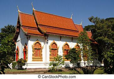 Chapel, Wat Chet Yot, Thailand