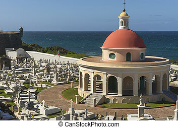 chapelle, à, santa maria, magdelena, cemetery.
