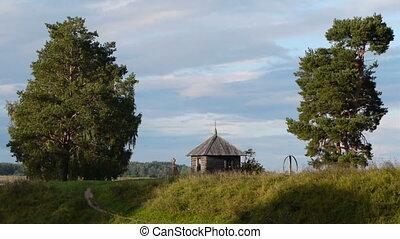 chapelle, croix, ancien