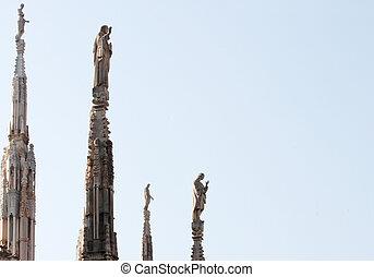 chapitel, estatua