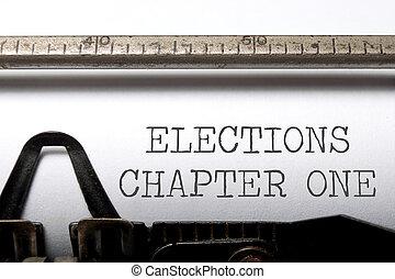 chapitre, élections, une