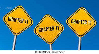 chapitre 11, -, ciel bleu, jaune, signes