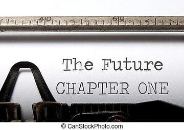 chapitre, avenir, une