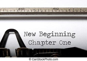 chapitre, nouveau commencement, une