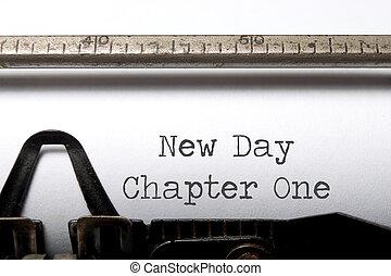 chapitre, nouveau jour, une