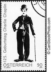 chaplin, 2014:, charlie, -, 1, autriche, (1889-1977), portrait, spectacles