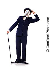 Chaplin,  Charlie, blanco, personificación
