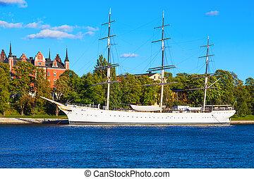 chapman'', ''af, stockholm, suède, bateau historique