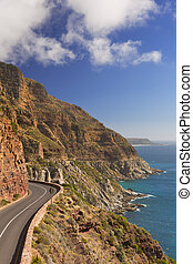Chapman's Peak Drive near Cape Town in South Africa