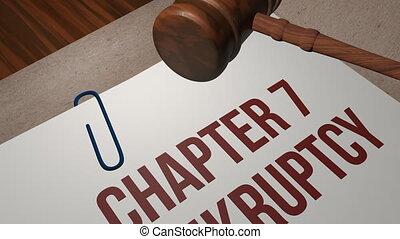 CHAPTER 7 BANKRUPTCY legal concept shot clip