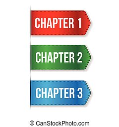 Chapter One, Two, Three vector