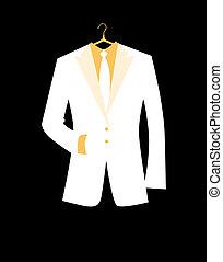 chaqueta, diseño, su, hombre
