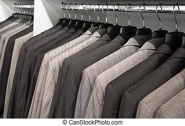 chaquetas, en, el, tienda