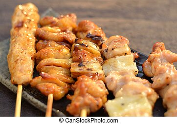 Char-broiled chicken yakitori - Char-broiled chicken called...
