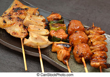 Char-broiled chicken yakitori - This is a picture of...
