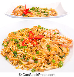 Char Kway Teow - Different type of fried char kway teow with...