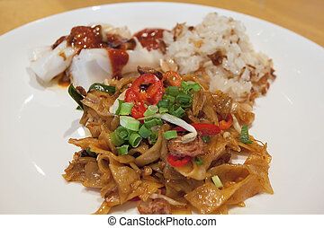Char Kway Teow Noodles Closeup
