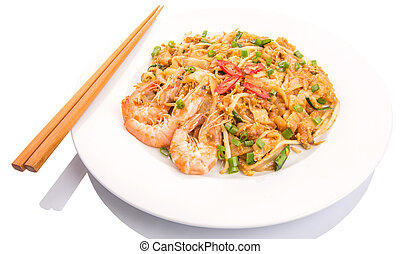 Char Kway Teow With Chopstick - Fried char kway teow with...