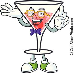 Character a geek in the cartoon cocktail