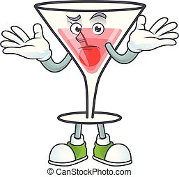 Character a grinning in the cartoon cocktail