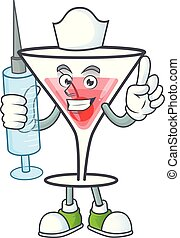 Character a nurse in the cartoon cocktail