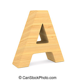Character A on white background. Isolated 3D illustration