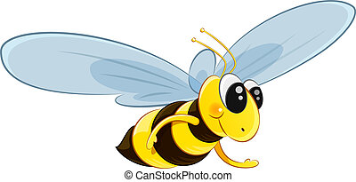 Character bee fly