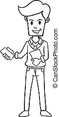 Character businessman style hand draw