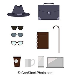 Character Construction Items Vector Illustration